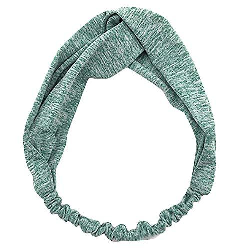 Haarbänder für Yoga Sport Damen Twist Knot Stirnband Elastic Wrap Turban Haarband Tägliches Tragen(Minzgrün,free)