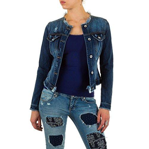 Damen Jacke, RINASCIMENTO USED LOOK JEANS JACKE, MKL-6343 Blau