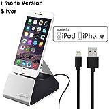 Avantree Desktop Aluminium iPhone Dockingstation mit Apple MFi zertifiziertem Lightning Kabel, Ladeständer Docking station für iPhone 8,8 plus 7, 6 Plus, SE, 5, iPod Touch 6th