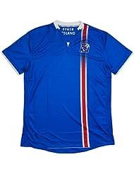 20162017Island sigborsson DIY Name und Nummer Home Football Soccer Jersey in Blau