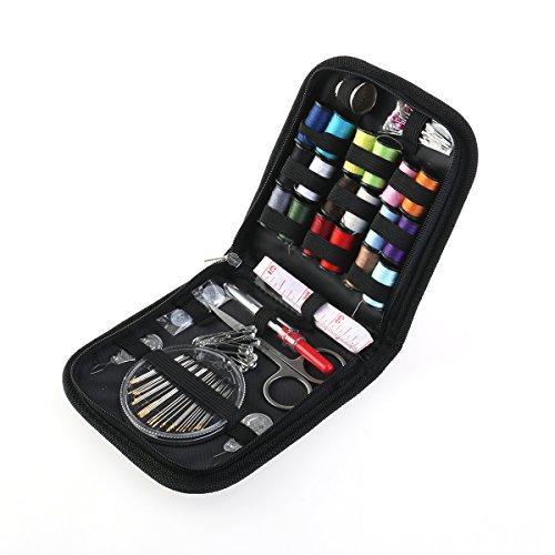 ROSENICE Nähen Zubehör Set Reise Nähzeug 58pcs Nähzubehör Nadeln Thread Scissors Set mit Reißverschluss - Nähen Schubladen