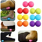JERN Silicone Plastic Peanut Yoga Massage Massager Ball(Pack of 2)