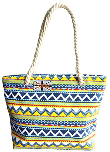 Octave , Borsa da spiaggia  Donna Chevron Design - Blue Mix