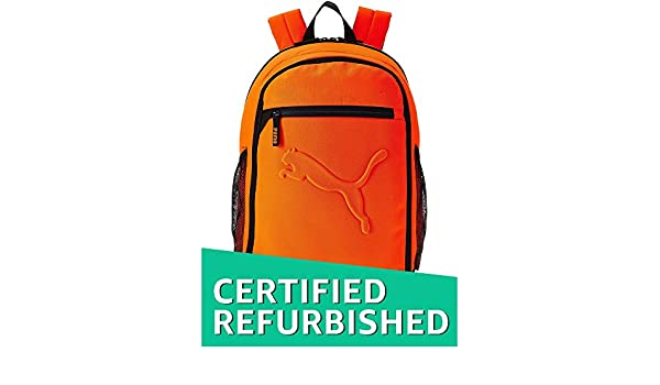 9ef1d1d79968 (CERTIFIED REFURBISHED) Puma 26 Ltrs Shocking Orange Laptop Backpack ( 7358124)  Amazon.in  Bags