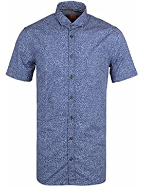 BOSS Orange Cattitude Blue Floral Print Short Sleeve Shirt