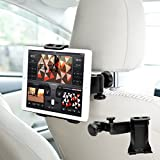 Soporte para Reposacabezas,Hunda Soporte Tablet Coche Reposacabezas Gira 360 Grados para Móvil iPhone,iPad,Samsung Galaxy,Google Nexus, LG G4, Nokia,Motorola, HTC y otras tabletas entre 3.5-10 pulgadas