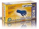 Reflexx R98, Handschuhe hi-risk Latex puderfrei, M, blau, 50