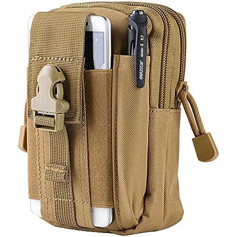Bolsa de cintura de tactica de Molle - TOOGOO(R)Bolsa de cintura de tactica de Molle de deporte al aire libre de hombre caja del telefono movil de monedero y de paquete para telefono Arena