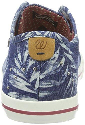 Wrangler STARRY LOW, Sneakers basses femme Multicolore -  (380  Blue Jeans Flowers)