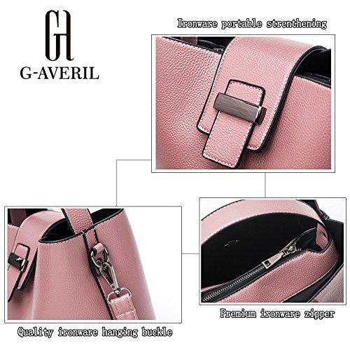 (G-AVERIL) 2018 pell Borsa Donna 2018 borsebag Tote a Spalla Tracolla Shoulderbag Top-Handle grigio