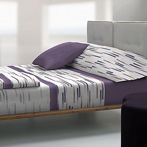 Tolrà TB005 - Juego de sábanas y funda de almohada, 3 piezas, tacto visón, para cama de 90 cm, color