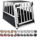 WOLTU® #346 Alu Hundetransportbox Hundekäfig Autohundebox 1 2 Türig Reisebox Hundebox in 5 Größen Farbwahl