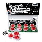 VERSTAND für Sandhausen-Fans | Fruchtgummi-Pralinen, hochdosiert helfen bei keine Ahnung von Fußball | Für Kaiserslautern, KSC- & alle Fußball-Fans, denen der Verstand von SVS-Fans am Herzen liegt