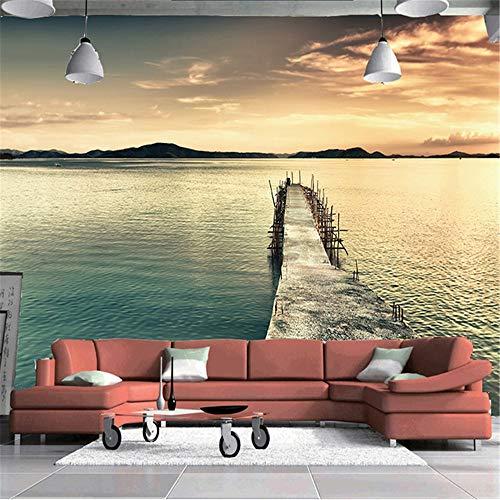 YBHNB Tapete 3D, Wandbild Papier Papel De Parede 3D Bergwasser Malerei Natur Landschaft Fotografie Hintergrund Fototapete Rolle,450X300CM (Fotografie-hintergrund-papier Rollen)