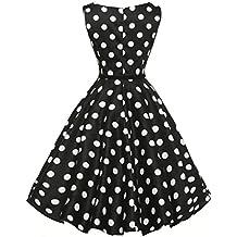 Yesmile Vestido de Mujer Vintage Falda Negro Vestido Elegante de Noche para Boda Fiesta Vacaciones Vestido del Partido del Baile Ocasional Sin ...