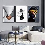mmwin Moderne geometrische dekorative Malerei Wohnzimmer Nordic Malerei Persönlichkeit abstrakte Veranda Malerei Hotel Wandbild S 50 * 70 cm
