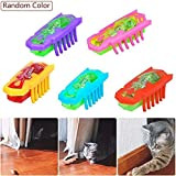 KOBWA Electric Teasing Cat Toys, Mini Robotic Bug Interactive Cat Toys, Fast Moving Cat Dog Automatic Chaser Toy for Entertaining and Satisfy Your Pets