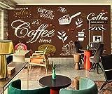 BHXINGMU Wandbild Individuelle Fototapeten Retro Nostalgischer Kaffee Kunsttapeten Große Schlafzimmerwanddekoration 240Cm(H)×330Cm(W)