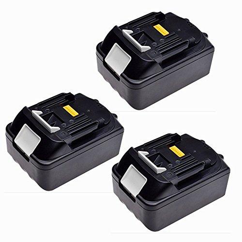 Preisvergleich Produktbild 3X 18V 3,0Ah Li-Ion Werkzeugakku Batterie für Akkuschrauber Makita BL1830 BL1815 194204-5 LXT400 (LG Zellen)