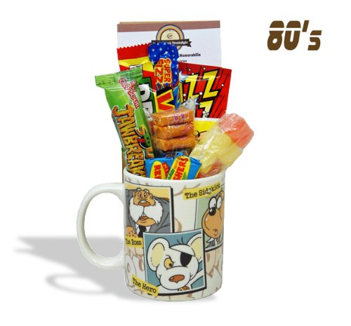 Dangermouse 'Characters' Mug jammed with a teatime selection of 80's themed sweets. 630gms