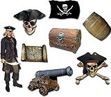 Piraten Magnete - 8er-Set Fantastische Geisterschiff Piraten - Die Piraten kommen! - Kühlschrankmagnete mit Motiv für Magnettafel Magnetboard Pinnwand Memoboard Whiteboard - Original Magnete GUMA Magneticum