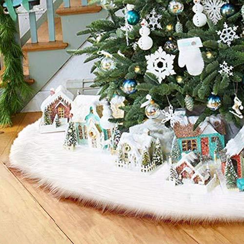 Surfmalleu Falda Blanca Árbol Navidad Decoración