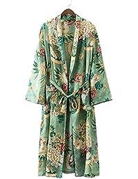 Surenow Robe de Chambre Robe de Nuit Kimono Imprimé Printemps Eté Pour Femme