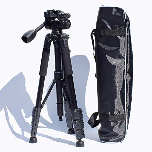 Preisvergleich Produktbild Stativ,  zabert DSLR Stativ mit Kopf,  58-inch Professionelle SLR Stative für Canon Nikon Sony Outdoor Fotografie