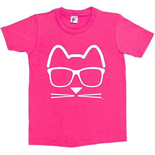 16e92aafb791 Fancy A Snuggle Funky Hipster Cat Wearing Glasses With Whiskers Kids Girls T -Shirt Hot