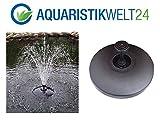 AQUARISTIKWELT24 Schwimmendes Springbrunnen Set incl.Pumpe und Aufsätze schwimmende Teich Fontäne