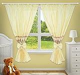 Luxus Deko Vorhänge für Baby-Raum passenden mit Unser Kindergarten Betten Sets (Fenster Creme)