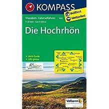 Die Hochrhön: Wanderkarte mit Aktiv Guide und Radwegen. GPS-genau. 1:25000 (KOMPASS-Wanderkarten, Band 462)