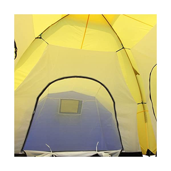 Peaktop 3 Bedrooms 1 Large Living Room 8 Persons Camping Tent Family Group Double Poles Hiking Beach Outdoor Tunnel Dome 3000mm Waterproof &UV Coated Bright Color 1 Year Warranty (5 Shapes) 9