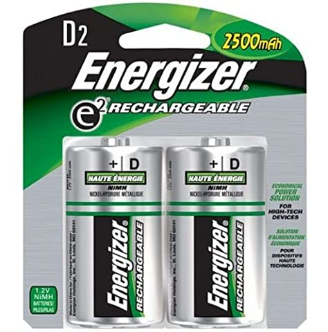 Energizer Battery Rechargeable ACCU Size D 1.2V NiMH 2500mAh HR20 (2 Pack)