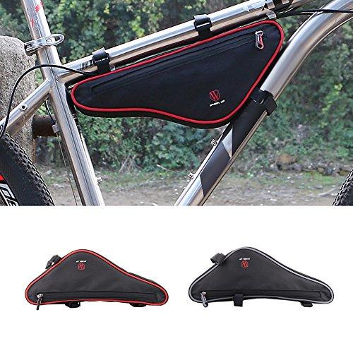 Fastar Große Kapazität Reflektierende MTB Road Bike vorne Bag Bike Panniers Zubehör Die dreieckige Fahrrad Tasche Rot