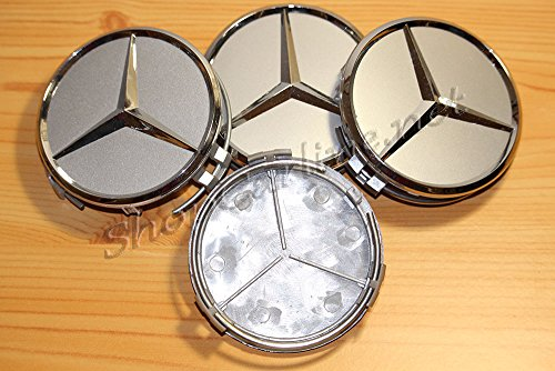 4Radkappen Mercedes für Radnabe zur Abdeckung der gebraucht kaufen  Wird an jeden Ort in Deutschland