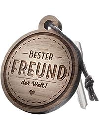 """Schlüsselanhänger aus Holz mit Gravur """"Bester Freund! der Welt!"""""""
