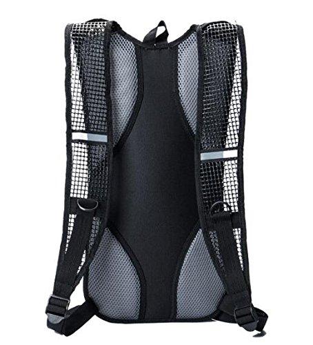 haoyk Wasserdichter Rucksack 12L Leicht Trinkblase Bag Sport Water Bag (2L) mit reflektierend für Frauen Herren Laufen Ski Wandern Fahrrad Mountain rose
