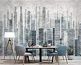 HONGYUANZHANG Benutzerdefinierte Persönlichkeit Wallpaper MuralsZusammenfassung Retro Stadt Gebäude Fototapete HomeDecoration 3D Wallpaper,290cm (H) X 370cm (W)