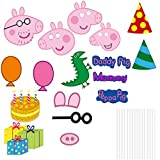 Party Propz Peppa Pig Photobooth Props (17 Pieces)
