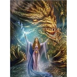 Cuadro sobre lienzo 90 x 120 cm: The spell de Dragon Chronicles / MGL Licensing - cuadro terminado, cuadro sobre bastidor, lámina terminada sobre lienzo auténtico, impresión en lienzo