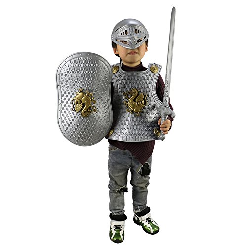 Per il Giocattolo di Halloween Vestire Set dell'Armatura di Cavaliere (Argento)