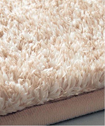 Tapis Ying Assemblage sans Couture Anti-dérapant Anti-dérapant résistant à l'humidité Machine insonorisée Lavable Non Pelucheux (2 pièces) (Couleur : Dusty Pink, Taille : 100 * 100cm)
