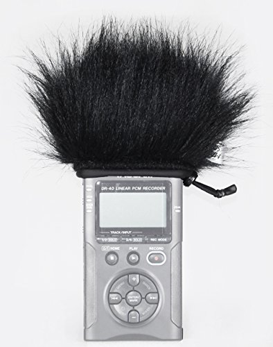 Master Sound Tascam DR-40, Windscreen Muff for recorder Tascam DR-40/ Tascam DR-40 V2 to protect the record from the wind, easy to put on hand recorders, made in the EU from certified, high-quality and reliable materials, Record in a high quality!