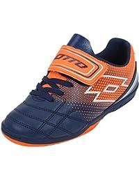 Lotto SPIDER–700Velcro Org–Zapatos Deporte en sala Indoor, naranja, 32