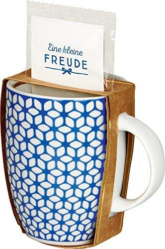 Spiegelburg 14437 Kit cadeau Tasse et thé blanc avec fleurs bleues