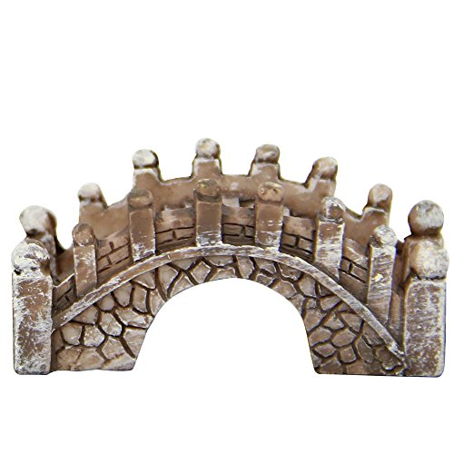 Cratone Stone Arch Bridge Fairy Garden Kits Moos Micro Landschaftsbau Decor Outdoor Dekorationen, Kunstharz, Rostfarben, 1.5 * 2 * 4.5cm