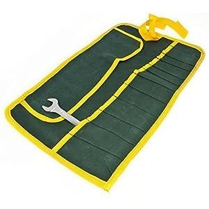 Estuche para herramientas enrollable, tela, 16 bolsillos.