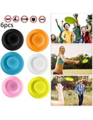 NOGJKS Zip Chip 6 Mini Frisbees, Soft Soft Spin Cattura Disco Record battenti Sport all'Aria Aperta Flessibile Pocket Beach Sport all'Aria Aperta e Beach Holiday Animal Toy Catching Game