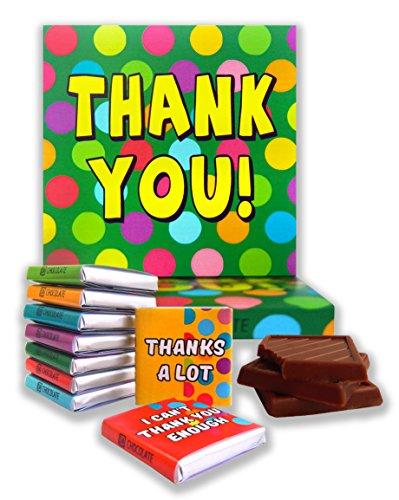 DA CHOCOLATE Cadeau de Chocolat MERCI 13x13cm 9 carrés au chocolat (Prime)